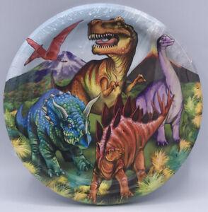 "Dinosaur Party Plates 9"" Trex Birthday Dinner Plates Science Class Party 18 - 9"""