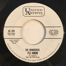 """RARE The Wanderers I'll Know You Can't Run Away From Me 7"""" 45 1963 UA Promo Soul"""