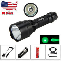 6000lm Q5/T6 White /Green Rechargeable LED Flashlight Coyote Torch 18650BY Lamp