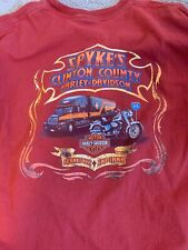 Harley Davidson Frankfort Indiana Alive On 65 Shirt Large Spykes Clinton County