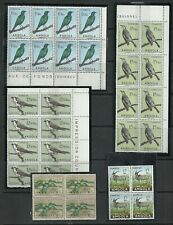 Angola 1951/1959 - Birds, Animal, Plant blocks 4/8 mint