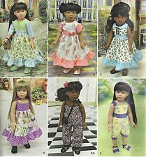 """18"""" Girl DOLL Modern Clothes Simplicity 8070 UNCUT American Sewing Pattern ©2016"""