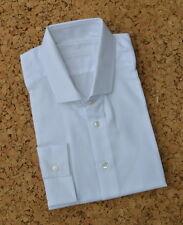 "Spencer Hart Savile Row White Twill Spread Collar Shirt 18""/ 45cm"