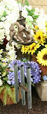 Aluminum Whimsical Bunny Rabbit Explorers On Sail Boat With Telescope Wind Chime