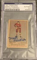 1951 1952 PARKHURST Marty Pavelich AUTO PSA DNA AUTOGRAPH #54 HOCKEY Blue Label