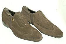 CESARE PACIOTTI men shoes sz 6 Europe 38.5 brown suede S8296
