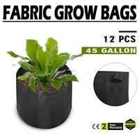 12 Pack 45 Gallon Fabric Plant Grow Bags With Handles Planting Pots Sturdy