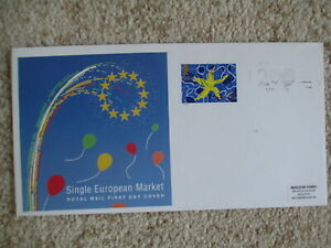 1992 SINGLE MARKET GPO COVER, WH SMITH - 200 YEARS LISTED SLOGAN PMK
