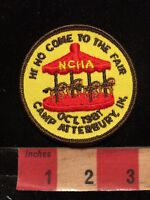 Vtg 1981 Horse Carousel CAMP ATTERBURY Indiana Patch 86I4
