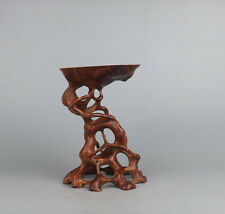 Chinese stand display red suan-zhi wood China rosewood root wooden bonsai base