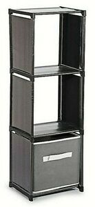 3 Tier Storage Compartment Home Plastic Organiser With Shelving Unit