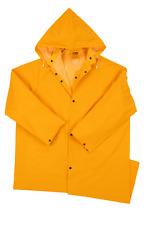 New 0.35mm PVC/Polyester Long Rain Coat w/ Detachable Hood raincoat Size 4XL