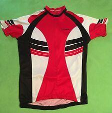 Giordana Medium Cycling Jersey Red 1 2 Zip Short Sleeve Size Medium  343fffb95