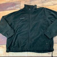 Columbia Mens Fleece Jacket Size XL Black Full Zip