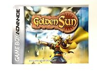Golden Sun Authentic Nintendo Game Boy Advance GBA Instruction Manual Booklet