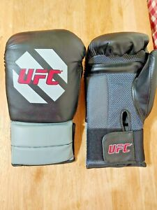 Official UFC Training/Sparring Boxing Gloves 16 oz Black Gray training gym NICE!