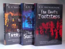 The Intruders, Summoning & The Devils Footsteps, E.E Richardson Bookset *SIGNED*
