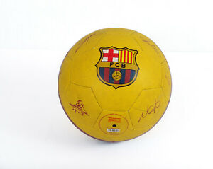 FCB 19/20 YELLOW BALL WITH AUTOGRAPHS