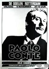 PAOLO CONTE 1987 TOUR ROTTERDAM CONCERT POSTER