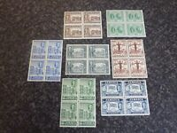 JAMAICA POSTAGE STAMPS SG134-140 INC 135A,136A,137A BLOCKS OF 4 UN MOUNTED MINT