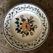 Lovely Creil Montereau Floral Majolica or Faience Plate 19th cent.