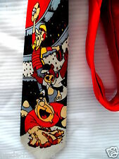 Vintage Fred Flinstone Yogi Bear George Jetson Baseball Necktie!