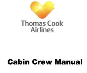 Thomas Cook Airlines Cabin Crew Manual (CCM) AIRLINE MEMORABILIA
