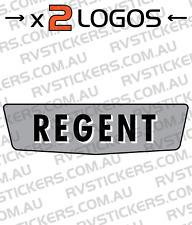2x FRANKLIN REGENT Caravan decal, sticker, vintage, graphics