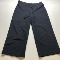 Talbots Dark Blue Pull On Wide Leg Crop Pants Size 2P A673