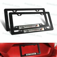 2 PC MazdaSpeed Car Trunk Emblem with ABS License Plate Tag Frame For Mazda 3 6