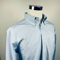 Brooks Bothers Mens 16 1/2 34/35 Non Iron Dress Shirt Blue White Houndstooth