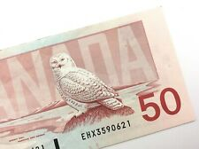 1988 Canada 50 Dollar Circulated EHX Replacement Banknote Thiessen Crow R865