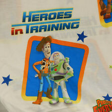 Disney Toy Story Twin Flat Sheet Woody Buzz Heroes Cutter Crafts Fabric