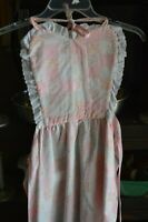 Housewife Apron Kitchen Pink Checkered Hearts Vintage Serving Fashion