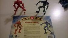 DC Comics Hasbro Flash/Atom/Blue Beetle Lot of 3 Complete MINT SuperHeroes Loose