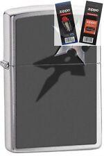Zippo 28030 star & shadow chrome Lighter with *FLINT & WICK GIFT SET*
