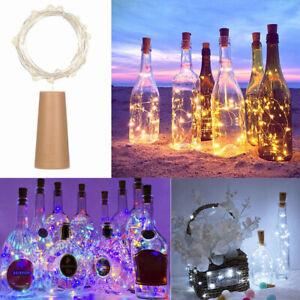20 LED String Battery Copper Wine Bottle Cork Wire Fairy Lights Party Waterproof