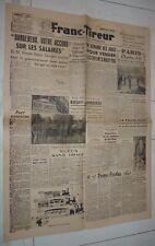 JOURNAL FRANC-TIREUR 3 & 4 AOUT 1947 JAMBOREE MOISSON SCOUT SCOUTISME