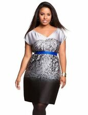 Eloquii The Limited Lace Accent Dress Size 18W  Blue Grey Black Ombre NEW w/ TAG