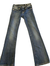 Miss Me Girl's Embellished Boot Cut Jeans Size 14. 25X30