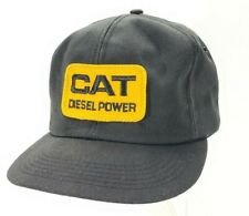 Vintage CAT Diesel Power Black Snapback Trucker Hat Cap Patch K Brand A19