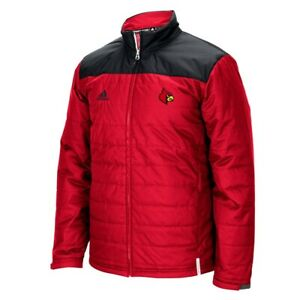 Louisville Cardinals NCAA Adidas Men's Climastorm Red Sideline Transition Jacket