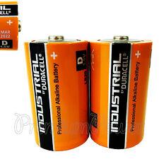 2 x Duracell D Size batteries Industrial Procell Alkaline LR20 MN1300 MONO 1.5V