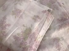 Simply Shabby Chic White Lavender Floral Curtain Panel 84x54