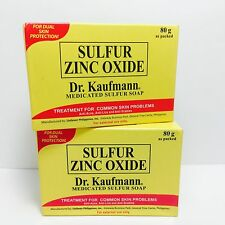 2 Dr.Kaufmann Medicated Sulfur Zinc Oxide Soap for Acne Scabies Psoriasis Lice
