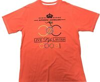 COOGI Australia Vintage 90s Orange Shirt Rainbow Rare Mens XL EMBROIDERED