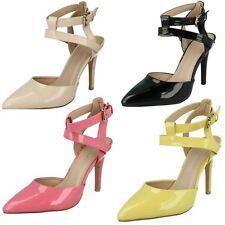 Anne Michelle F9R760 Ladies Court Shoe Black, Pink, Yellow or Beige (R31A)