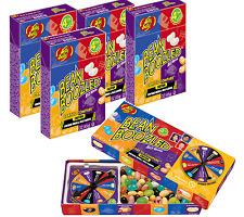 1 BOX BEAN BOOZLED SPINNER GAME 3.5oz JELLY BELLY! 4 REFILL PACKS 1.6oz!!