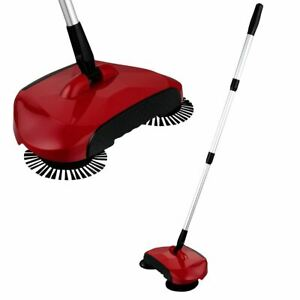 KCT RED HAND PUSH SWEEPER HOUSEHOLD AUTOMATIC FLOOR CLEANER TRIPLE BRUSH BROOM