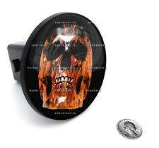 "2"" Tow Hitch Receiver Plug Cover Insert For SUV's & Trucks - ""Fire Skull"""